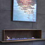 Corten Steel Fireplace