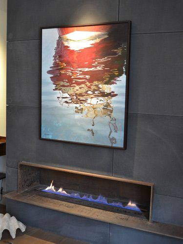 Corten Fireplace and shelf