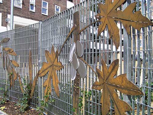 Corten & 316 Stainless Steel Screen designed/built by Hollywood Design